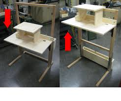 build a standing desk plans stand up desk plans howtospecialist how to build step by step diy