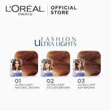 Excellence Fashion Ultra Lights Hair Color 03 Ash Brown Worlds No 1 By Loreal Paris W Protective Serum Conditioner 12 12 Sale