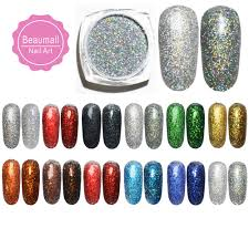 2gpot 02mm 1 Holographic Acrylic Glitters Powder Dusts Chrome Pigments For Nail Tattoo Art Decorations