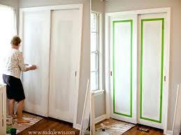 closet door ideas diy paint faux molding on sliding closet doors a instead paint all white