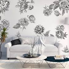 Small Picture Black White Flowers Large Flower Decals for Walls Urban Walls