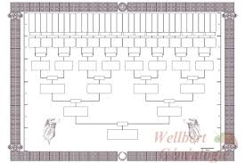 7 Generation Pedigree Chart Free Free Printable Family Tree Templates Template 4 Generations