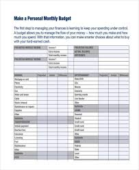 examples of personal budgets sample personal budget geocvc co
