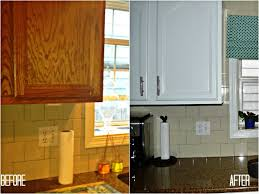 image of diy painting kitchen cabinets before and after best brand of paint for kitchen cabinets