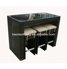 Outdoor Wicker Bar Furniture