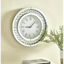 wall mirrors reflection mirror wall clock house of contemporary crystal round reviews mirrors for