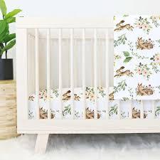 B Winnieu0027s Woodland Friends Baby Girl Crib Bedding Set