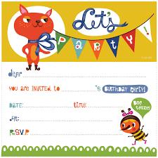 printable kid birthday cards kids birthday invitations free rome fontanacountryinn com