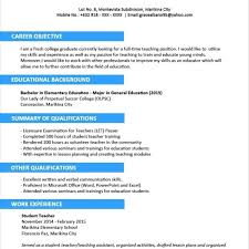 Resume Sample For Fresh Graduate Without Experience Template