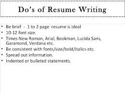 Standard Font Size And Style For Resume Standard Font Size For Resume Writing Recommended Best To Use Fonts