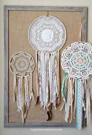 How To Make Doily Dream Catchers Vintage Doily Bohemian Dream Catcher My Pinterventures 2
