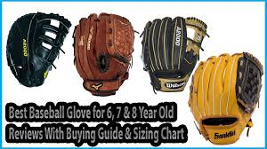 Catchers Mitt Size Chart Best Baseball Glove For 6 7 8 Year Old Buying Guide