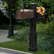 wood mailbox posts. Westbrook Plus Mail Post Black 4 Wood Mailbox Posts