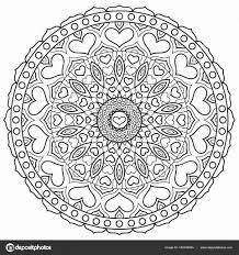 Mandala Kleurplaat Hartjes Elegant Mandala Met Hart Voor Het Kleuren