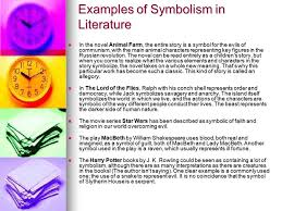learning objectives to understand symbolism in literature ppt  examples of symbolism in literature