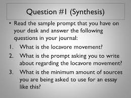ap final exam response questions ppt video online  question 1 synthesis
