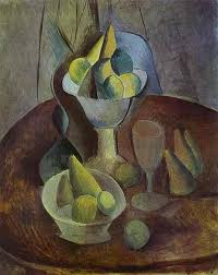 compotier fruit and glass 1909