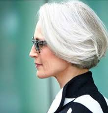 So maybe it's time you had a trendy update like this slightly angled bob. 15 Hairstyles For Short Grey Hair