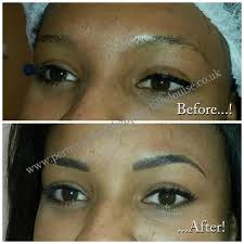 eyebrow enhancement sometimes called eyebrow tattoo with professional permanent makeup artist claire louise weymouth