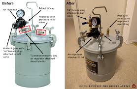 how i created a pressure chamber with a 2 1 2 gallon air pressure paint tank