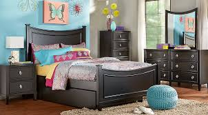 Jaclyn Place Black 4 Pc Twin Bedroom Teen Bedroom Sets Colors