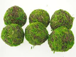 Decorative Moss Balls Dried Organic Decorative Moss Wicker Twig Straw Rattan Balls 60pack 5