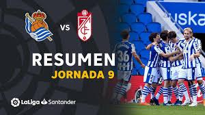 Resumen de Real Sociedad vs Granada CF (2-0) - YouTube