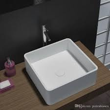 2018 bathroom sink acrylic resin stone solid surface stone table top counter top basin pb2074 from pietrabianca 244 23 dhgate com