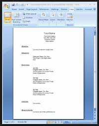 Resume Format For Job In Word File Download Resume Corner