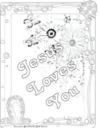 Jesus Loves You Coloring Page B6671 Loves You Coloring Page