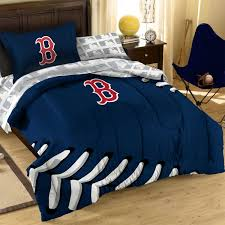 amusing baseball comforter with wooden side table