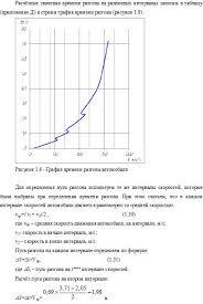 Для определения пути разгона используем те же интервалы скоростей  график времени разгона автомобиля