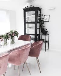 pink velvet dining chairs uk chair design ideas