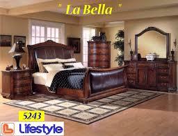 Sleigh Solid Wood Bedroom Set