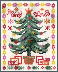 Desiderata Cross Stitch Chart Mini Xmas Tree Sampler Xmas Cross Stitch Kit On 14 Aida Good For Beginners