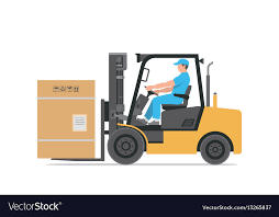 Man Driving A Forklift Royalty Free Vector Image