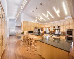 vaulted ceiling lighting options. contemporary kitchen idea in san francisco with stainless steel appliances vaulted ceiling lighting options