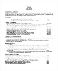 hospice resume