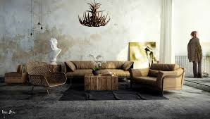 Industrial Living Room Design Industrial Chic Home Decor Zampco