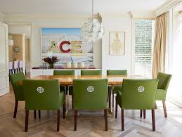 green upholstered chairs. Grass-green-upholstered-dining-chair-white-embroidered-medalion- Green Upholstered Chairs