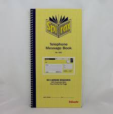 telephone message book spirax telephone message book pk5 stationery carbonless books