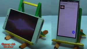 how to make mobile stand or holder at home how to make a tablet stand cah you