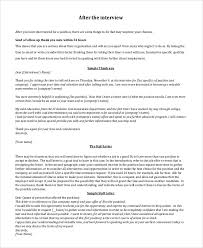 Ideas Collection Follow Up Thank You Letter After Interview For