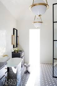 bathroomextraordinary vaulted ceiling lighting nancy. Black And White A Barrelvaulted Ceiling Creates Sense Of Openness In The Master Bathroom Where Custom Tile From SOURCE Adds Interest Brass Light Bathroomextraordinary Vaulted Lighting Nancy L