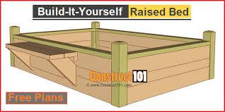 garden bed plans. Interesting Plans Raised Garden Bed Plans With Bench In Garden Bed Plans A