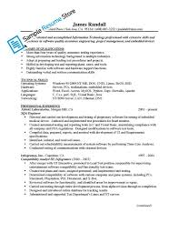 Qa Engineer Resume Example Examples Of Resumes