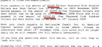 debt settlement offer letter american express sle debt settlement letter american express sle debt settlement letter