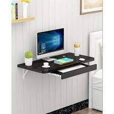 wooden wall mounting computer tables