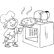 Small Picture Pizza Coloring Pages
