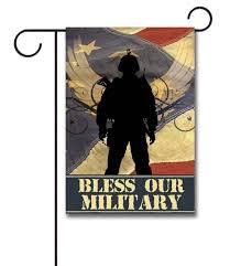 bless our military garden flag 12 5 x 18
